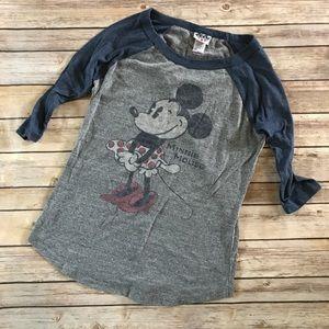 Junk Food • Minnie Mouse baseball tee